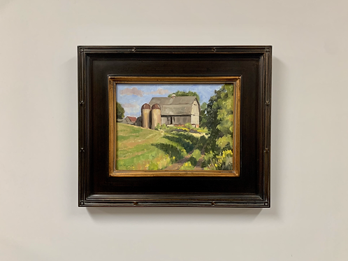 "Pam Kurtz ""Carlson Farm, Late Summer"" Oil Painting"
