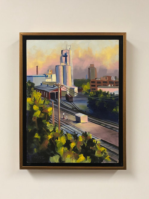 "Colleen Cosgrove ""Twilight, NE Minneapolis"" Oil Painting"