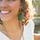 Thumbnail: Fair Anita Teal Fan Earrings