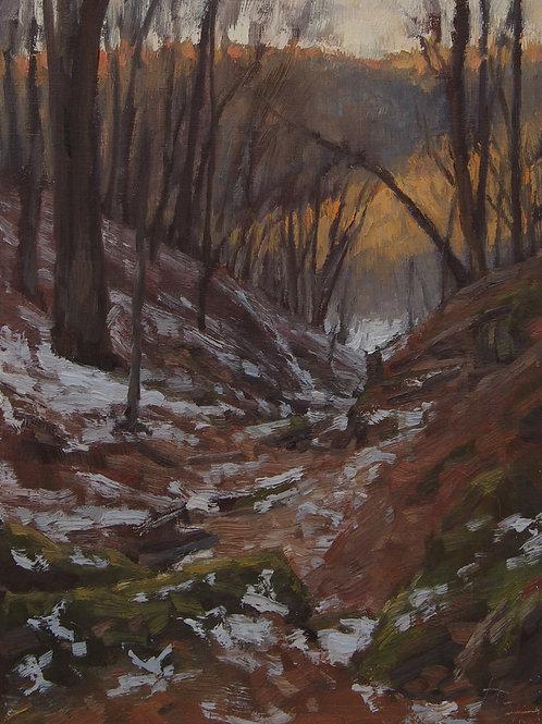 """Snow in the Ravine"" Hannah C. Heyer Oil Painting"