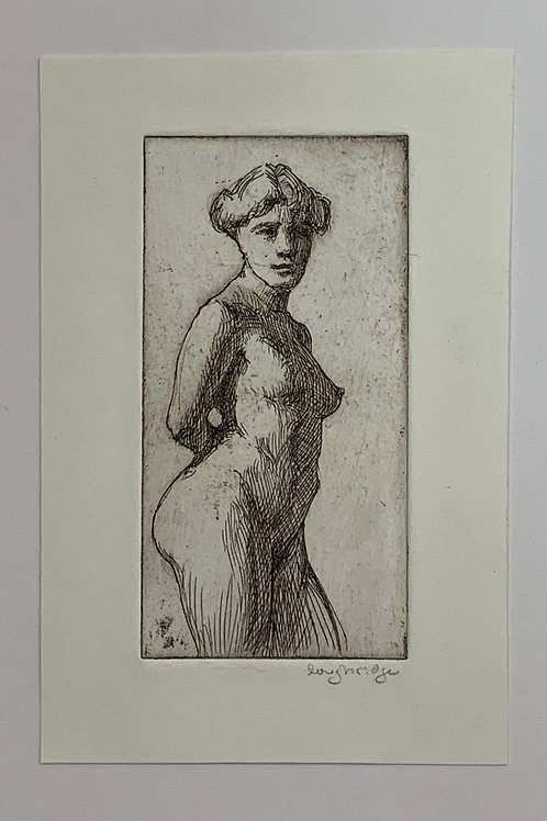 Nude Figure Etching by Stuart Loughridge