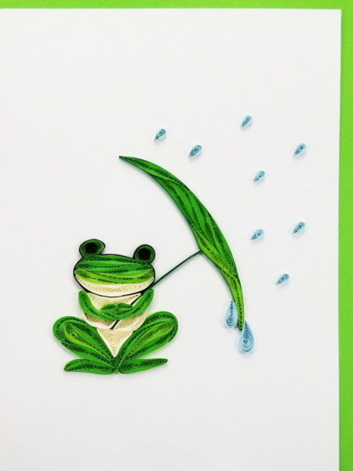 Iconic Quilling Frog Greeting Card