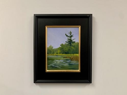 "Karlyn Eckman ""Little Tamarack Lake"" Oil Painting"