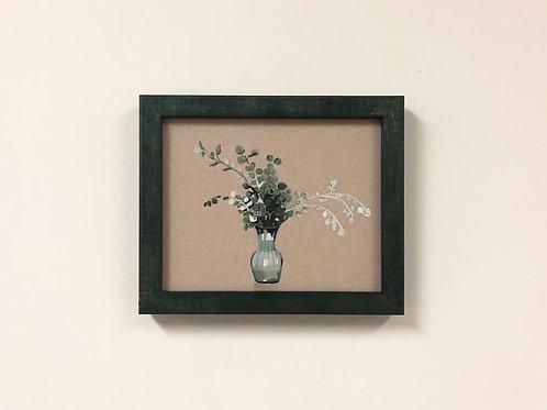 """Sydney Hintz """"Eucalyptus"""" Gouache Painting"""