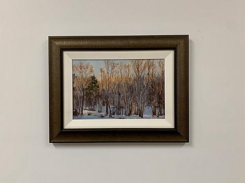 "Diane Foster ""Morning Light"" Oil on Birch Panel Painting"