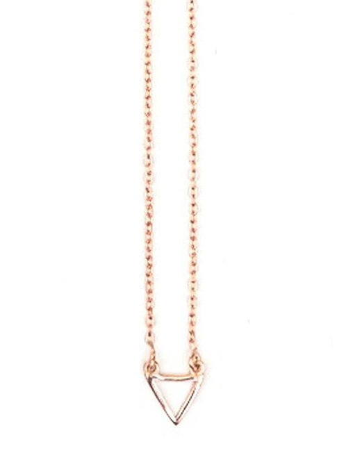 Fair Anita Rose Gold Triangle Necklace