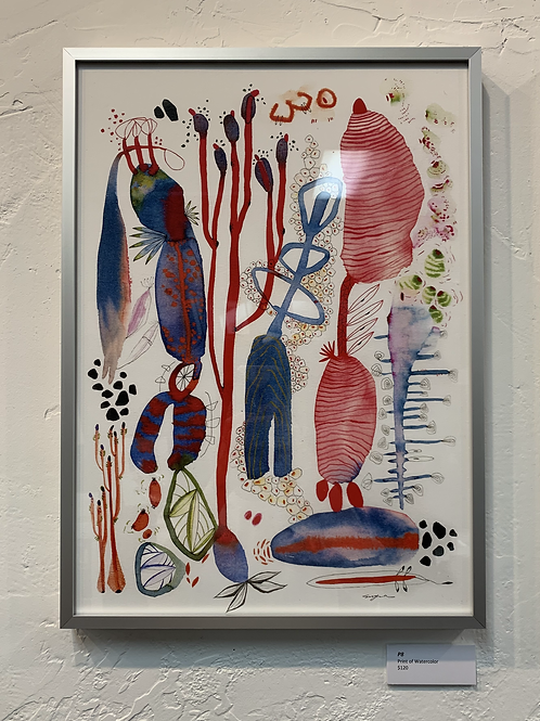 SOLD P8 Framed Print of Watercolor by Suyao Tian