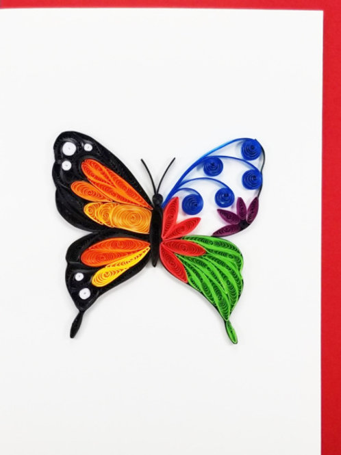 Iconic Quilling Butterfly Greeting Card