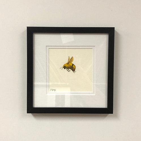 SOLD Jeanne Long Watercolor Bee