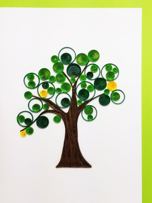 Iconic Quilling Summer Tree Greeting Card