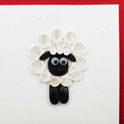 Iconic Quilling Sheep Greeting Card