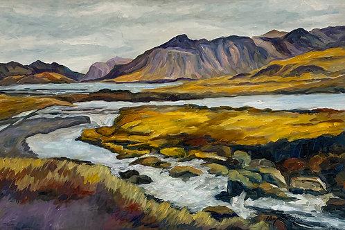 Near Kurkjufellsfoss, Iceland by Rita Beyer Corrigan