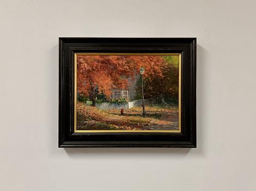 "SOLD Joshua Cunningham ""Last Fall"" Oil on Linen Painting"