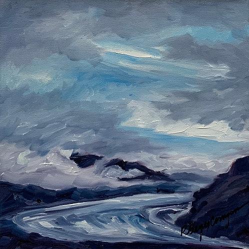 Approaching Skaftafell, Iceland by Rita Beyer Corrigan