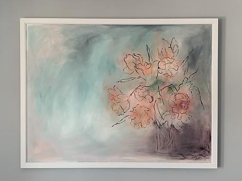 """Mandy Madsen """"Flowers in Vase"""" Painting"""