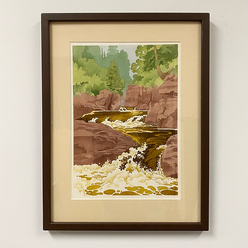 SOLD Cascade River Watercolor by Andrew Grum Carr
