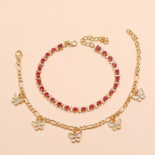 Pink Butterfly Set
