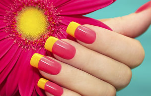 red-yellow-manicure-flower-gel-polish-shellac-norwich-norfolk-eva