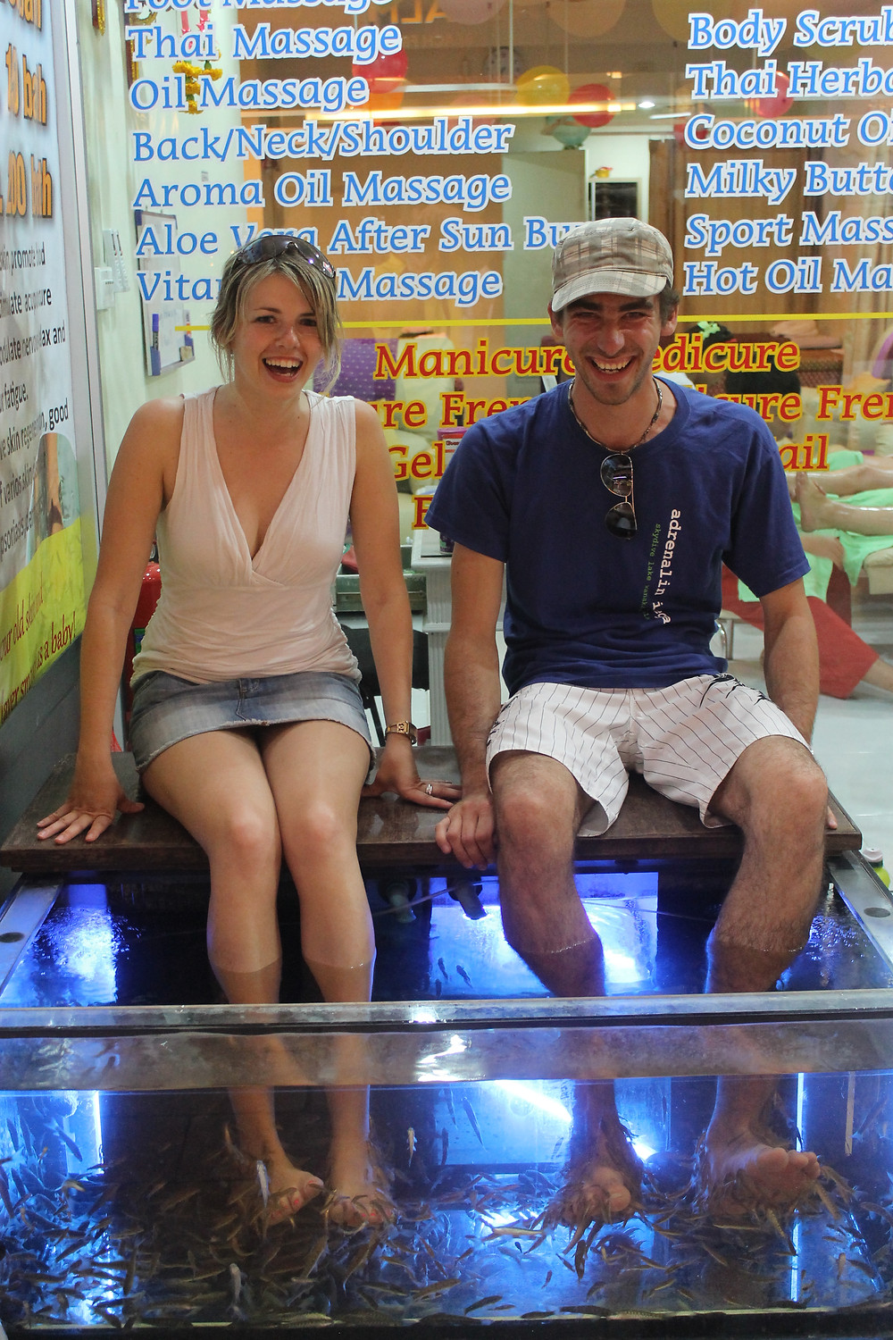 Fish pedicure in Phuket, Thailand