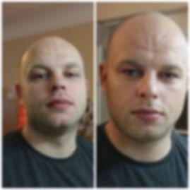 Man makeup, light, no see makeup look