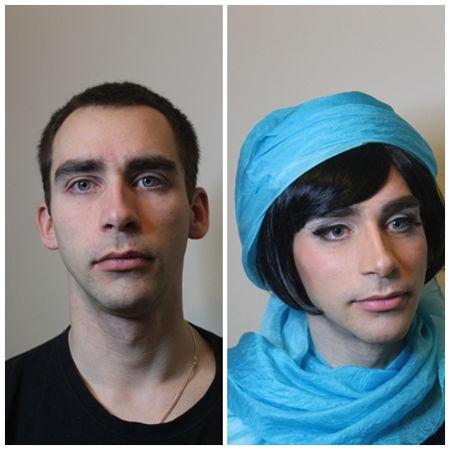 Halloween Makeup idea, man into woman makeup in Norwich, Norfolk, UK