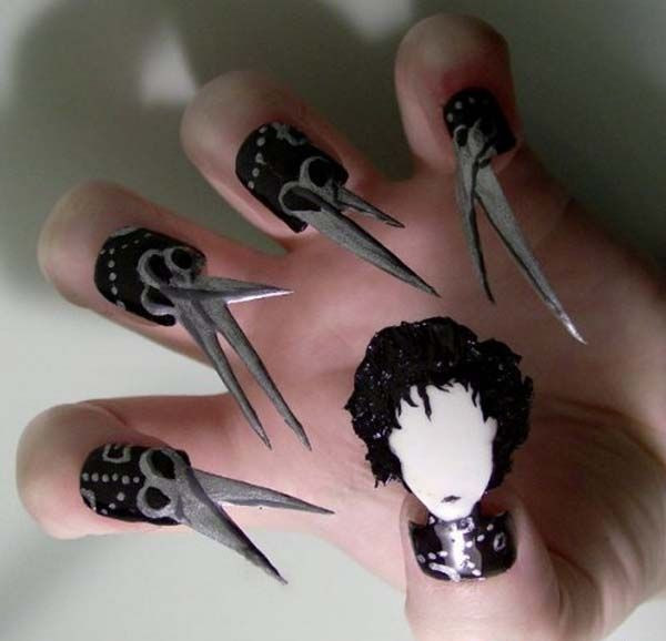 #5-Top-10-most-crazy-unusual-nail-art-designs-scissors-hairdresser-hair-creative