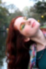 Yellow, green, orange eyeshadows, with gliteer, fall, autumn inspired for a red head