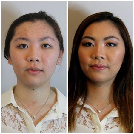 Asian Makeup for monolid, hiding acne