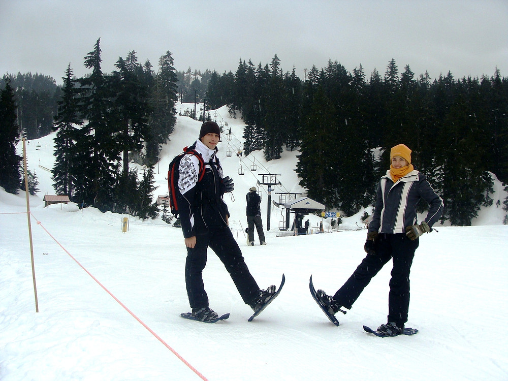 Snowshoeing in Vancouver, Canada