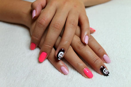 Pink Halloween Nails
