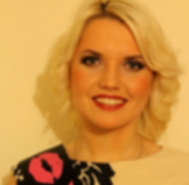 Soft, smokey eye makeup, red lips for blonde, hens party