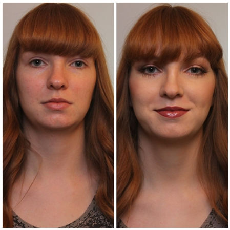 BeautifulEvening Makeup look for a Red Head Birthday party