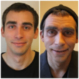 Before and after, young to old makeup for man, men