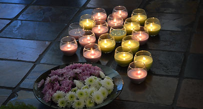 Candle lighting ceremony and flower crown making