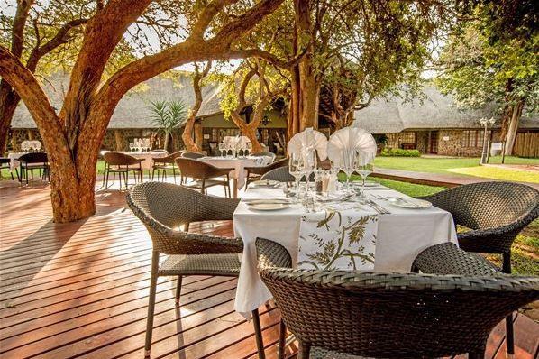 Dining outside at Kilima