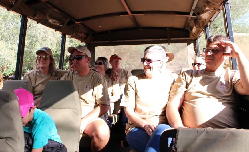 Colleagues on a game drive