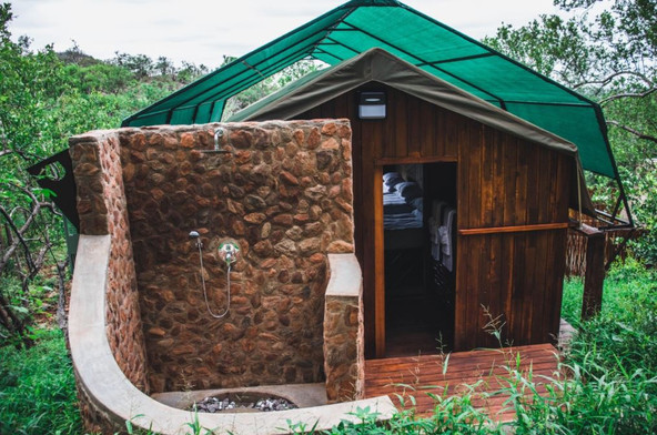 Treetop Tent at Kilima Outside Shower.JP