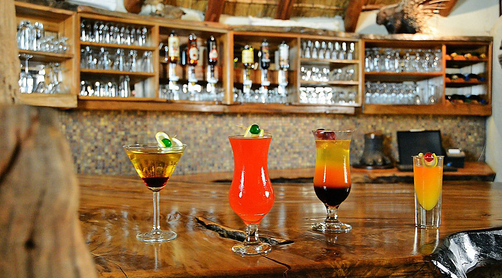 Cocktails; Cocktail bar; Fairy lights; Star Gazing Deck; Kilima Private Game Reserve and Spa