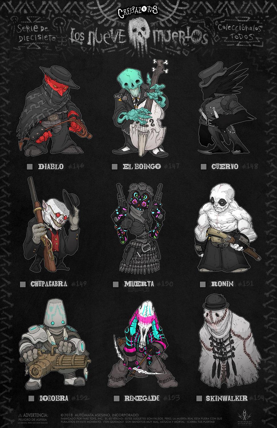17 Creepazoids--Los Nueve Muertos.jpg