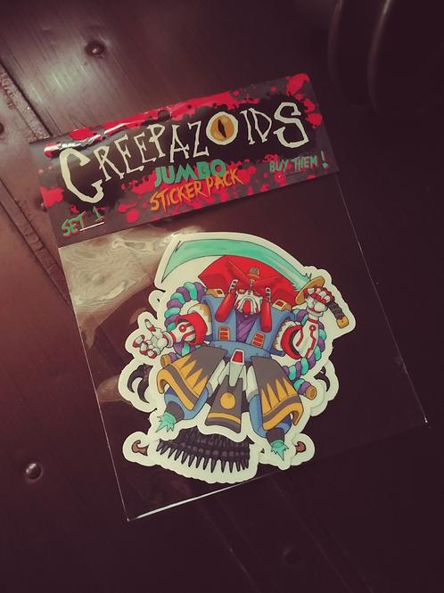 Creepazoids Jumbo Sticker Pack (Set 1)