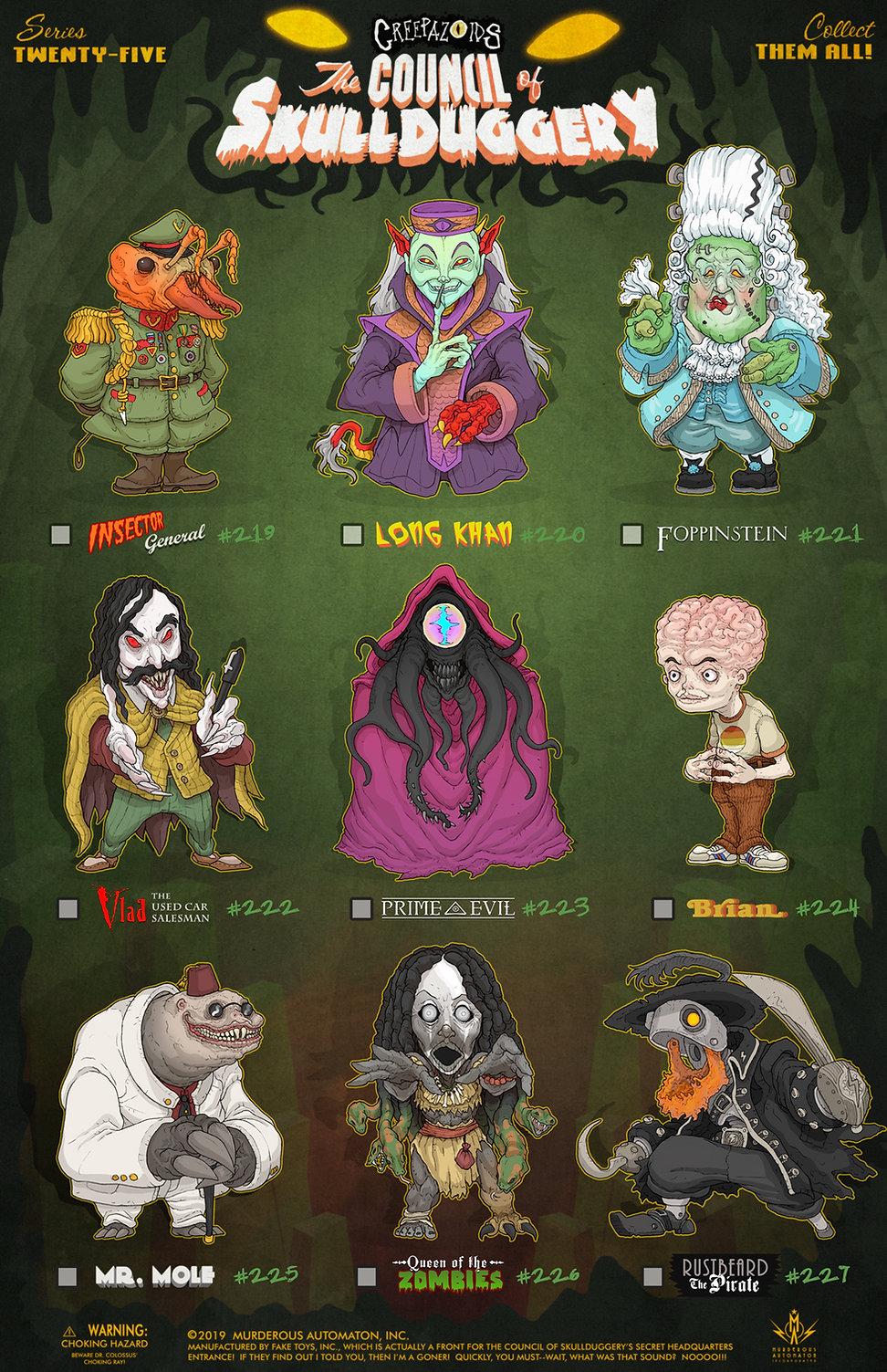 25 Creepazoids--The Council of Skulldugg