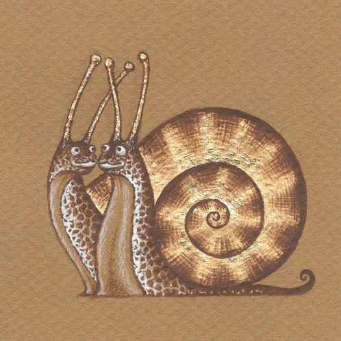 Dibujo - dos caracoles
