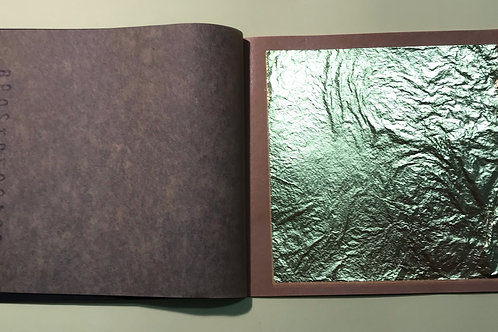 25 gold leaf booklet