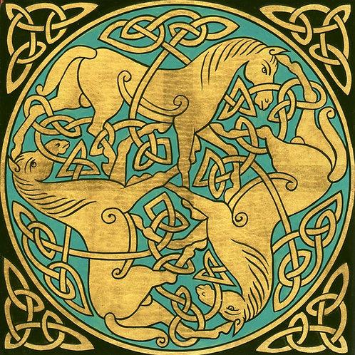 Adorno celta - Caballos