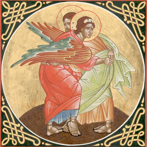 Icon - Jacob's fight with the angel