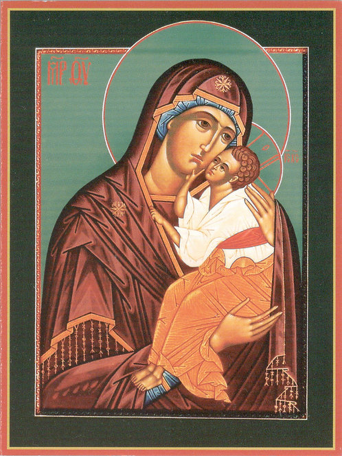 Set of 7 greeting cards - Mother of God from Yaroslavl