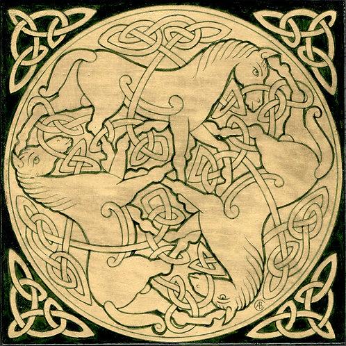 Adorno celta - Caballos 2