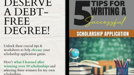 5 Steps to Writing a Successful Scholarship Application