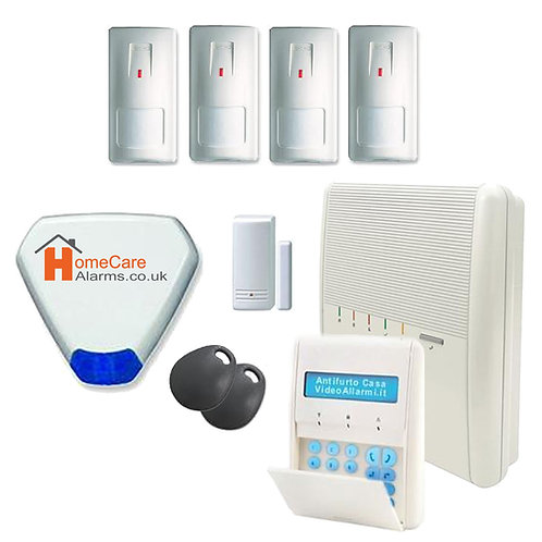 5 Zone Agility Alarm System Kit Installed