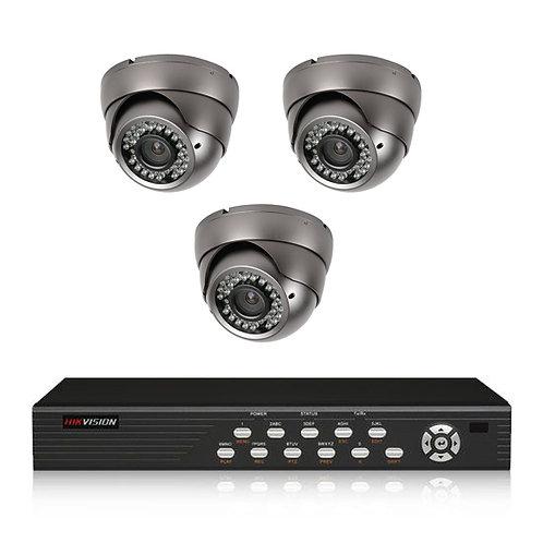 3 Camera CCTV Kit Fully Installed